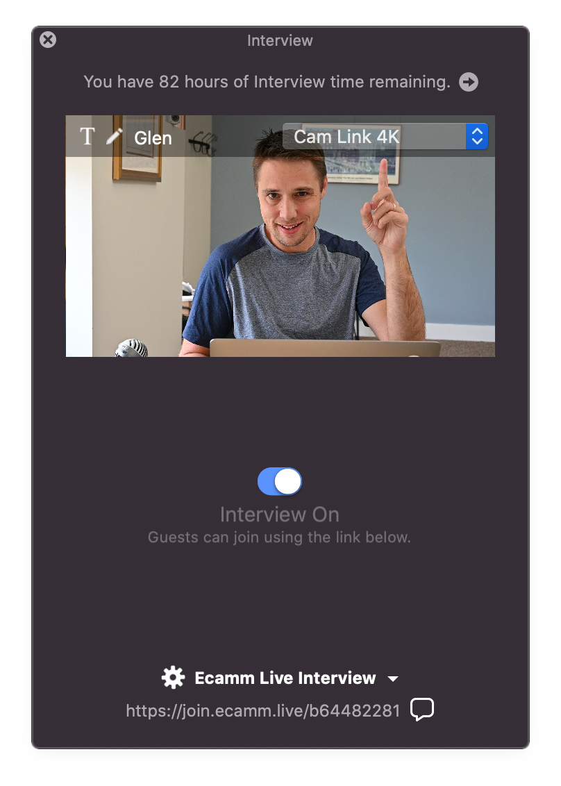 Figure: The Interview Window