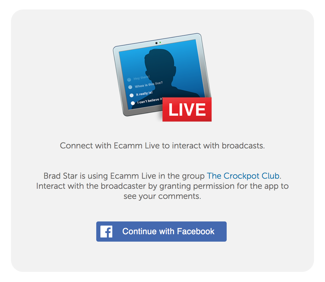 Broadcasting to Facebook - Ecamm Live User Guide